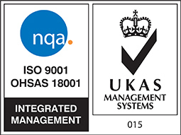 ISO 9001 and UKAS logos